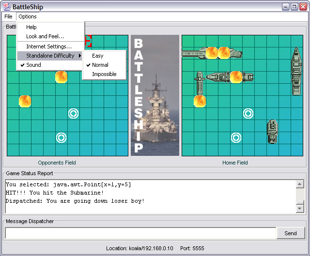 Java Battleship Program