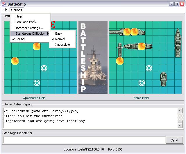 Java BattleShip Program – Sample Battleship Game